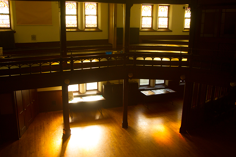 The early morning light enters the Sunday School addition at the Reformed Church in the historic Port Richmond section of Staten Island, N,Y. on Friday Oct. 25, 2013. (Gordon Donovan)
