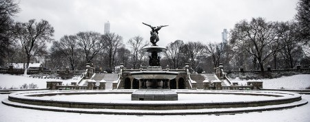 The Bethesda Fountain after a snowstorm hit the New York City area, Friday Jan. 9, 2015 in New York. (Gordon Donovan/Yahoo News)