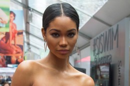 Sports Illustrated swimsuit model Chanel Iman poses for a photo during the Sports Illustrated swimsuit issue at the SwimCity festival in New York City on Monday Feb. 9, 2015. (Gordon Donovan/Yahoo News)
