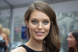 Sports Illustrated swimsuit model Emily DiDonato poses for a photo during the Sports Illustrated swimsuit issue at the SwimCity festival in New York City on Monday Feb. 9, 2015. (Gordon Donovan/Yahoo News)