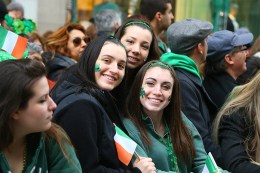 Irish eyes are smiling during the St. Patrick's Day Parade, March 17, 2015, in New York. (Gordon Donovan)
