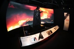 """Darth Vader, the uber villain costume was created by Ralph McQuarrie to look like a """"dark lord riding in the wind"""" with black flowing robes and a helmet like that as of Japanese Samurai. (Gordon Donovan/Yahoo News)"""