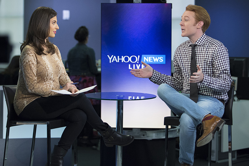 Yahoo News and Finance Anchor Bianna Golodryga speaks with singer and songwriter Clay Aiken