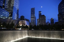 One of the 9/11 Memorial pools and Museum in New York City on Sept. 8, 2016. (Gordon Donovan/Yahoo News)