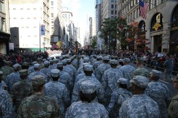 Members of the U.S. Army march up Fifth Avenue during the Veterans Day parade in New York on Nov. 11, 2016. (Gordon Donovan/Yahoo News)