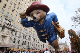 The Paddington balloon floats in the 90th Macy's Thanksgiving Day Parade in New York, Thursday, Nov. 24, 2016. (Gordon Donovan/Yahoo News)