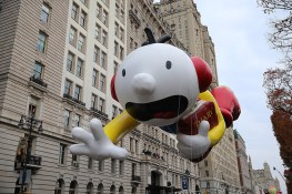 Greg from Diary of a Wimpy Kid floats in the 90th Macy's Thanksgiving Day Parade in New York, Thursday, Nov. 24, 2016. (Gordon Donovan/Yahoo News)