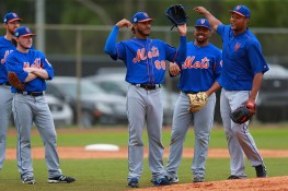 New York Mets pitching prospect Marcos Molina is the winner at morning drills at the Mets spring training facility at First Data Field in Port St. Lucie, Fl., Tuesday, Feb. 28, 2017. (Gordon Donovan/Yahoo Sports)