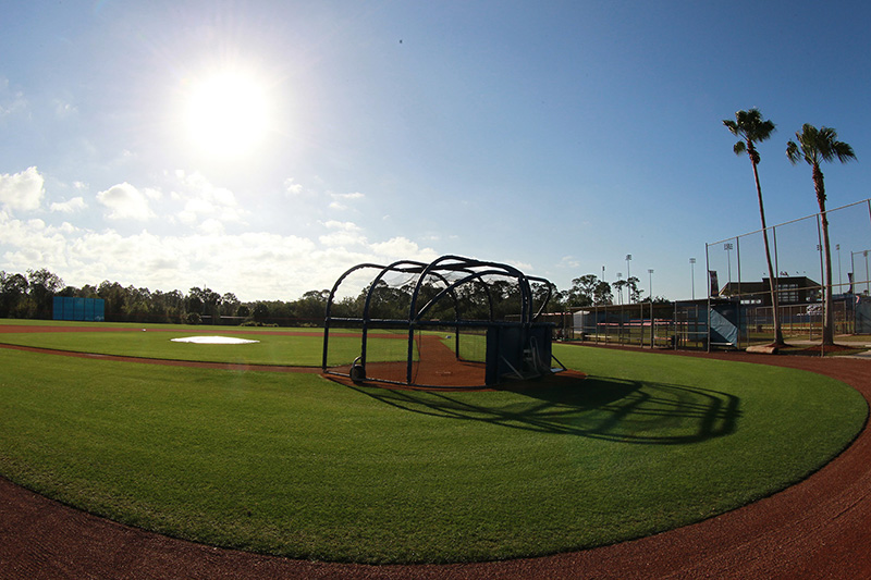 The back fields before morning workouts at the New York Mets spring training facility in Port St. Lucie, Fl., Wednesday, March 1, 2017. (Gordon Donovan/Yahoo Sports)