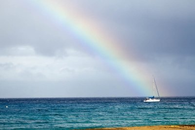 Rainbow on the Ocean