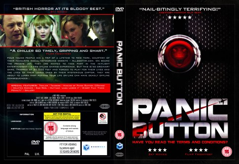 Panic Button DVD cover artwork & layout.