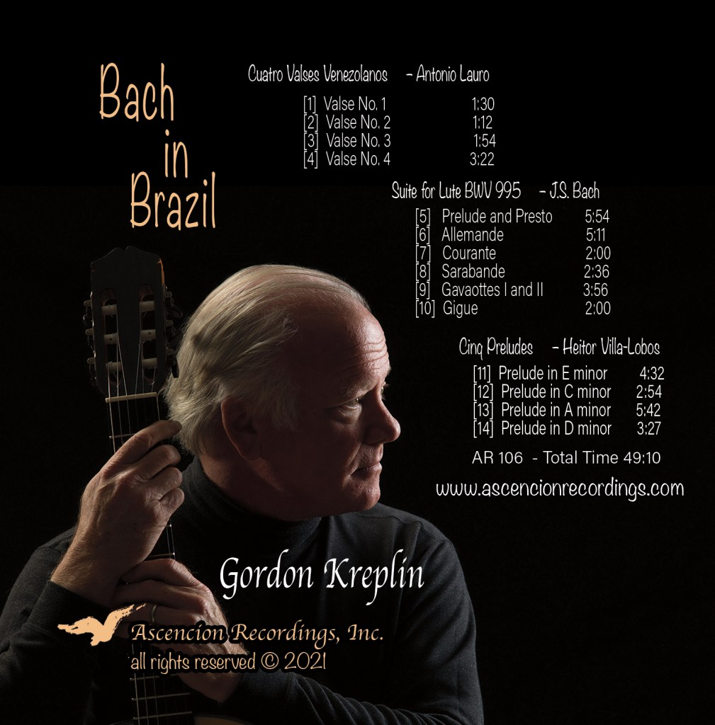 Bach cover of Bach in Brazil CD