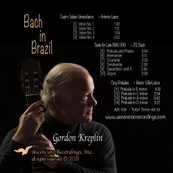 Front and back cover of Bach in Brazil CD.