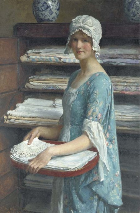 William Henry Margetson The Laundry Maid