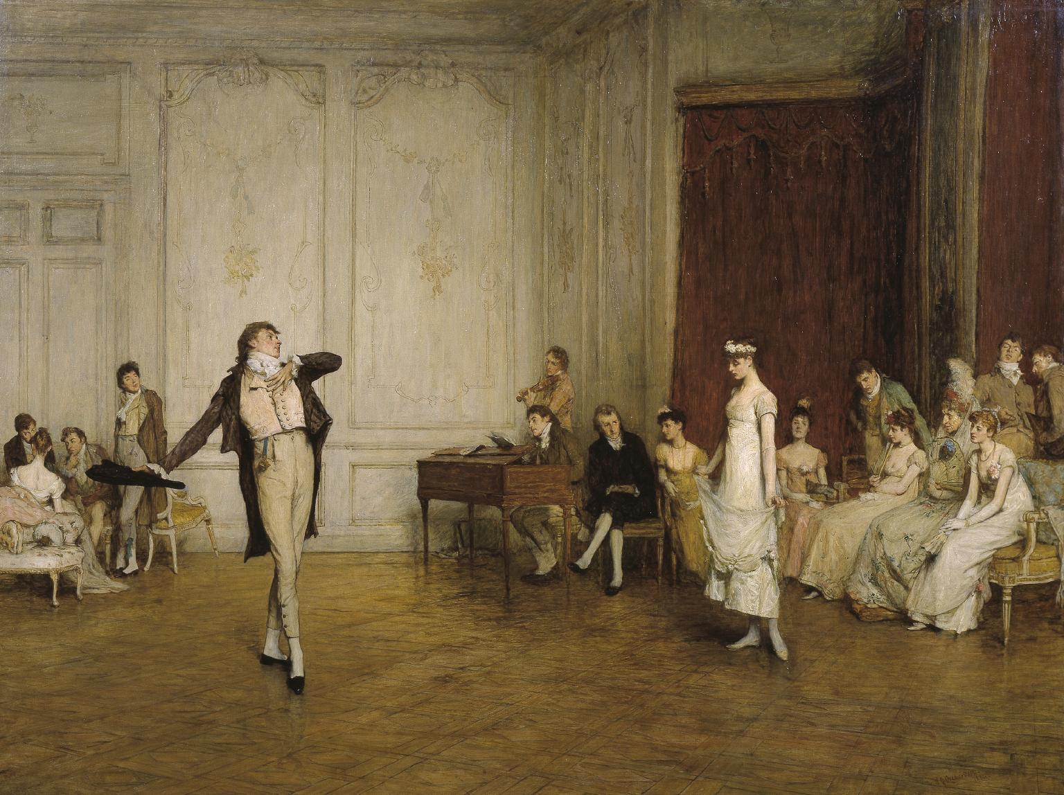 Her First Dance 1884 by Sir William Quiller Orchardson 1832-1910