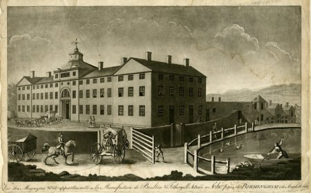 View of the manufactory of Boulton & Fothergill in Birmingham by Francis Eginton 1773