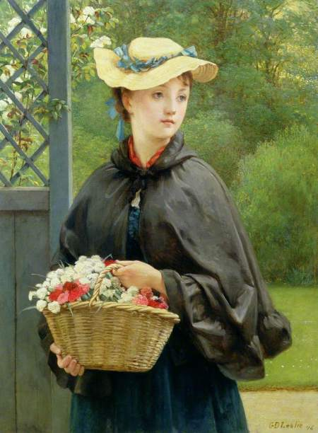 Leslie, George Dunlop, 1835-1921; The Gardener's Daughter