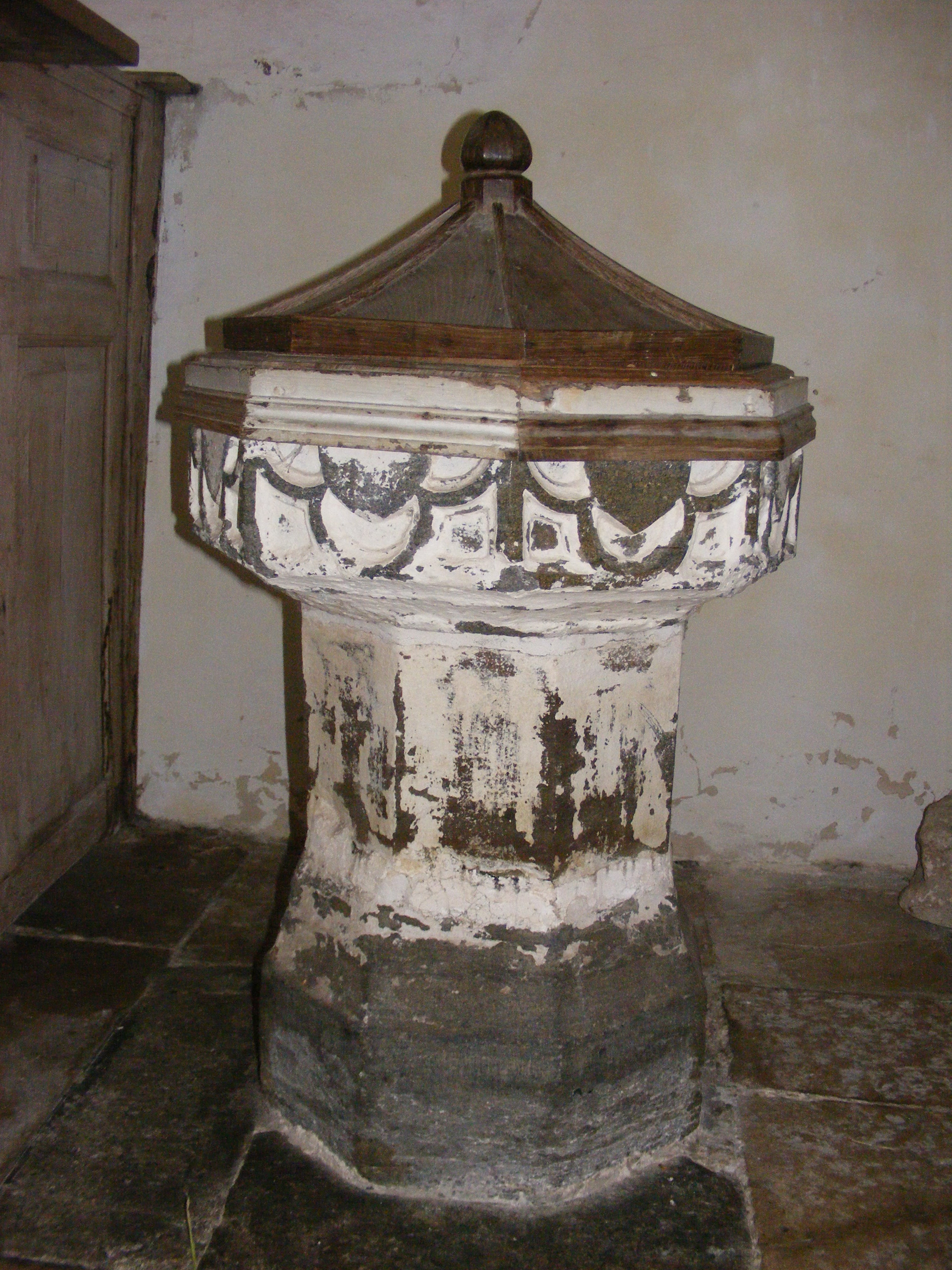Winterborne Tomson, St Andrew, font & cover