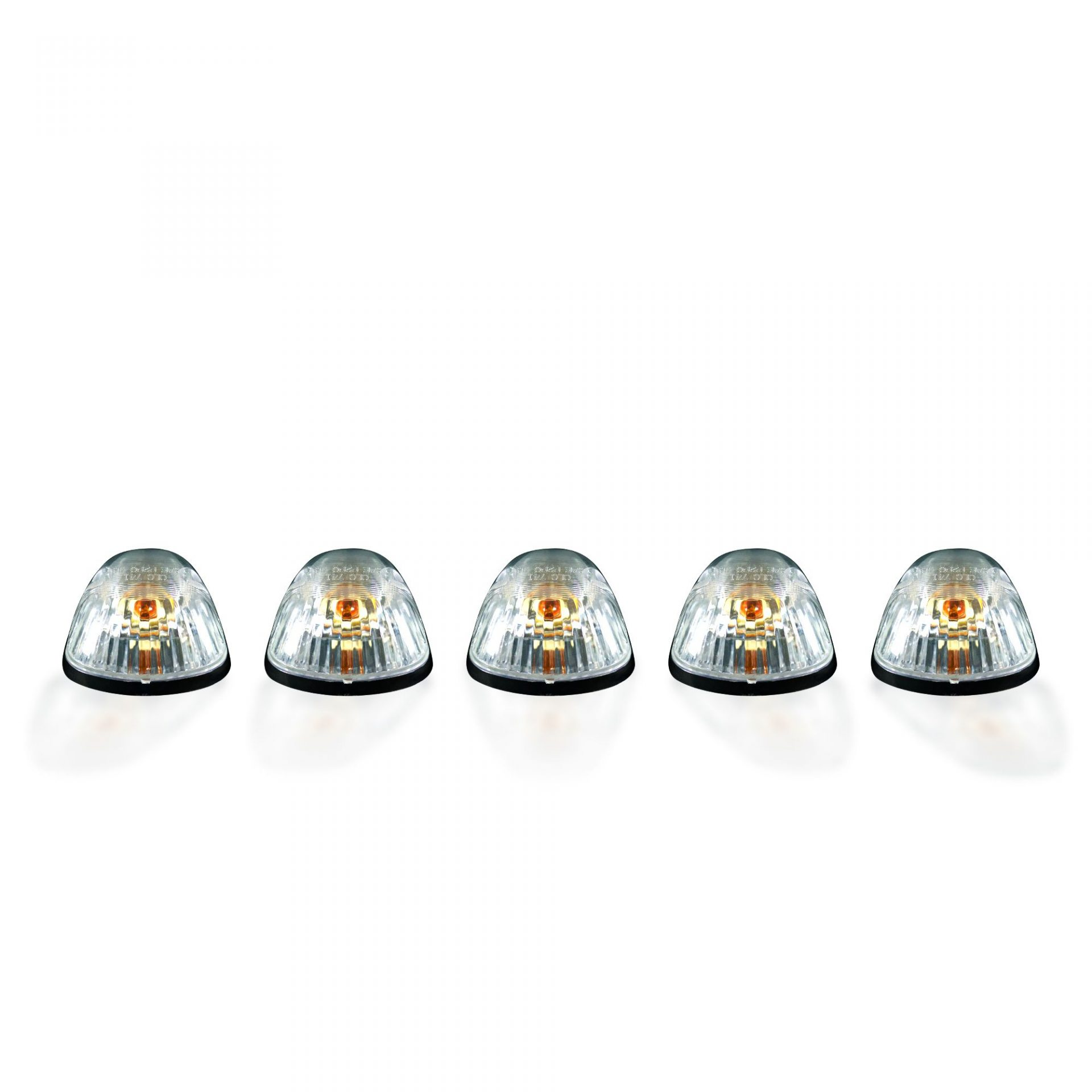 Dodge 5 Piece Cab Roof Light Set 194 Bulbs Clear Lens In