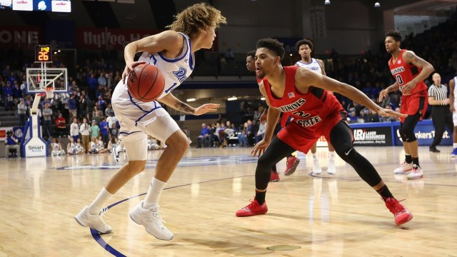 Image result for Illinois State Redbirds vs. Drake Bulldogs College Basketball 2019
