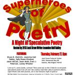Jack Straw Center flyer for Speculative Poetry Reading