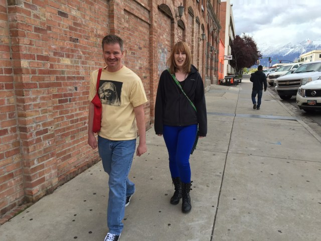 Off to lunch with Jeff Strand and Sara Tantlinger. We found pizza nearby and cracked each other up for an hour or so.