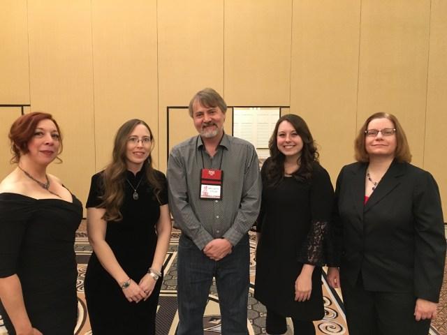 RDSP at the Stoker Banquet:  Maria Alexander, Jennifer Barnes, Michael Arnzen, Stephanie Wytovich, Lucy Snyder.