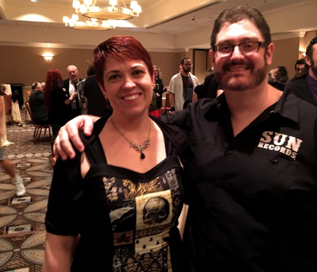 Joe-la and Steve Dowdy at StokerCon 2016.