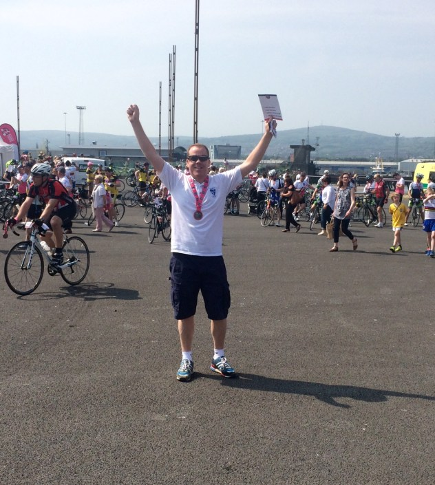 Johnny after finishing the Gran Fondo Giro d'Italia 2016