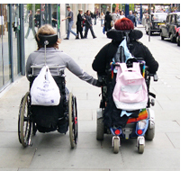 Two wheelchair users