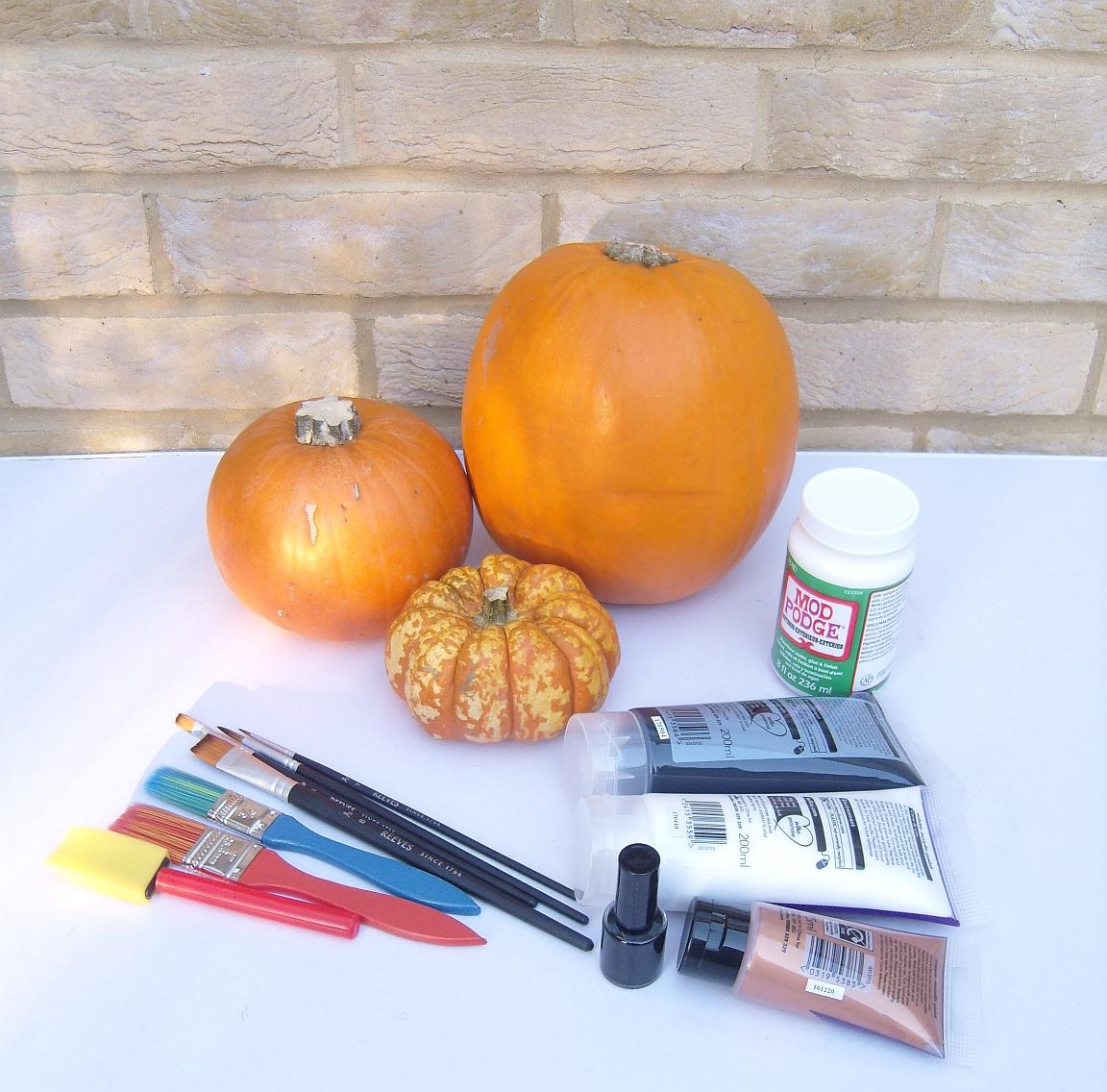 No Carve Pumpkins Diy Painted Pumpkin Tutorial Gorgeous