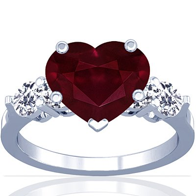 Red Heart Jewelry For Valentines Day Gorgeous Gems And