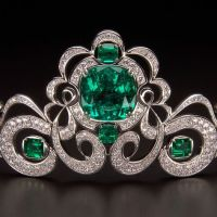 The Exquisite Emerald and Diamond Moreira Tiara