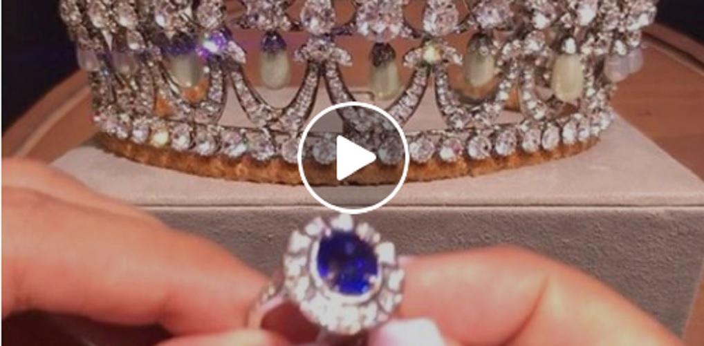 Princess Diana Tiara and Sapphire Diamond Ring