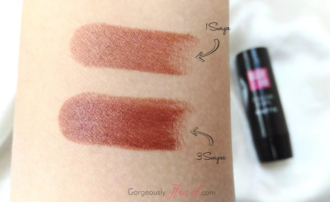 Review & Swatches   Elle 18 Color Pops Matte Lipstick Belgian Brown - Worth The Hype?