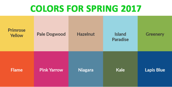 Coloring Trends For Spring'17