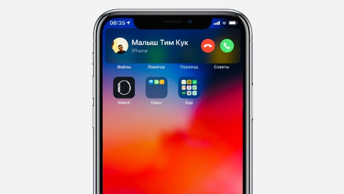 Incoming Call interface on iOS 14