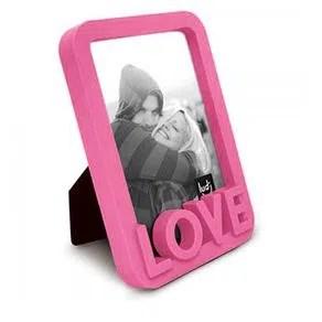 Resultado de imagem para Porta Retrato Love Amor Moderno Rosa