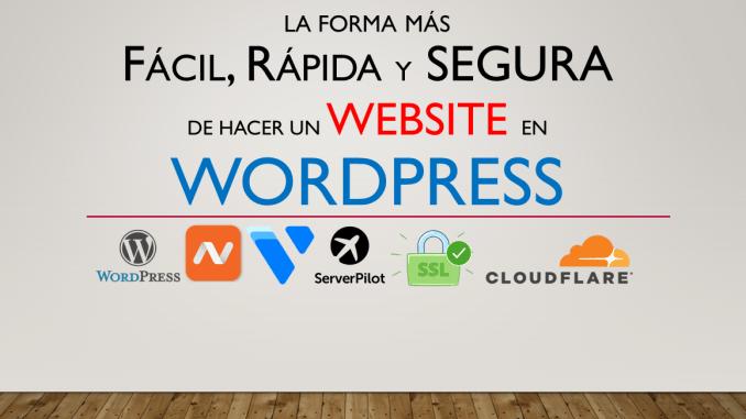 La Forma mas Facil Rapida y Segura de Crear un Website Wordpress