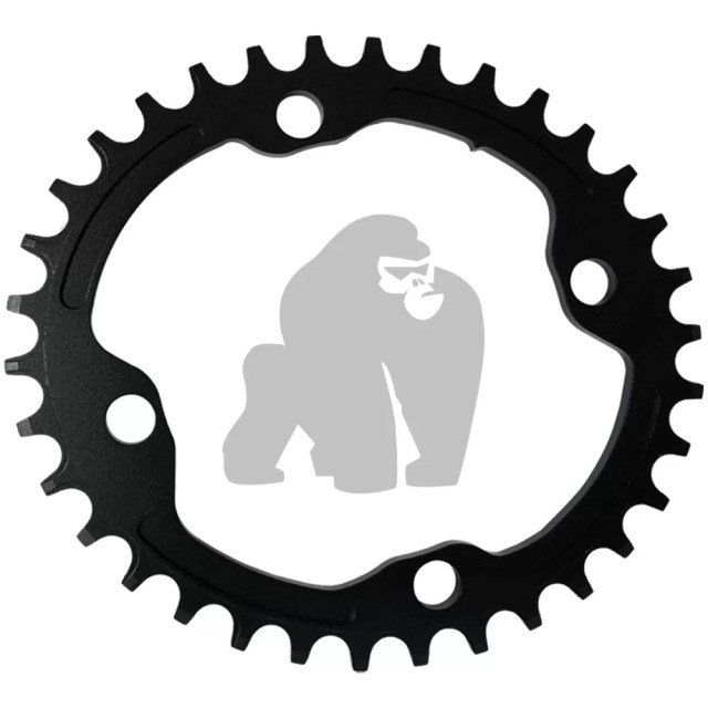 Narrow wide oval chainrings