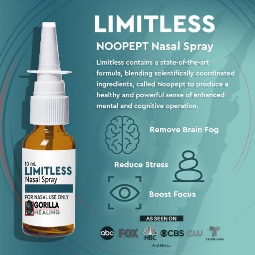 Nootropics NooPept Nasal Spray (LIMITLESS) noopept