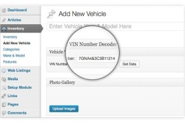 WordPress Car Dealer Vin Number Decoder