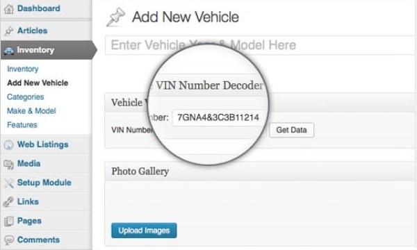 WordPress Car Dealer Vin Number Decoder