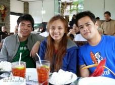 Roi, Jae, and Miggy at Josephine's Restaurant