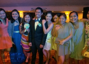 The Newlyweds with Their Girl Friends