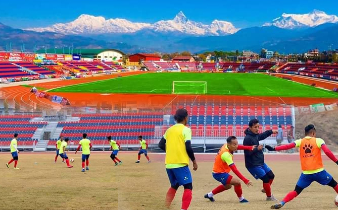 Gorkhali Team training in Pokhara for World Cup 2022 Qualifiers