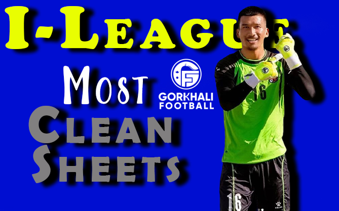 Kiran Chemjong with the most Clean Sheets in I-League 2020-21