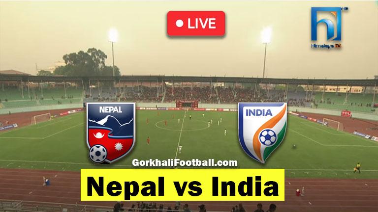 Nepal vs India Live Friendly Football Match 2021