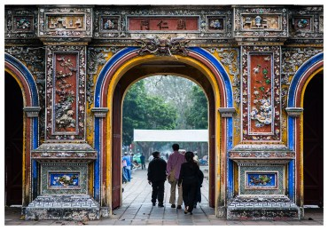 Hue Royal Palace City Gate. 5D Mark III | 85mm 1.4.