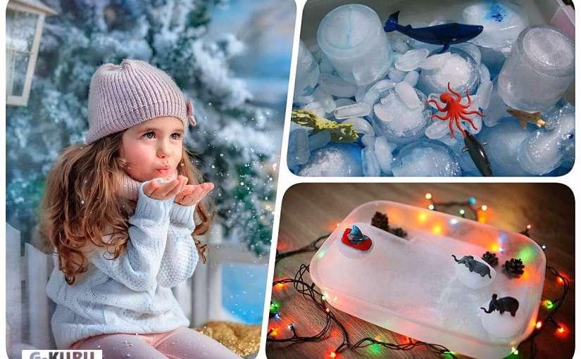Игры со снегом дома